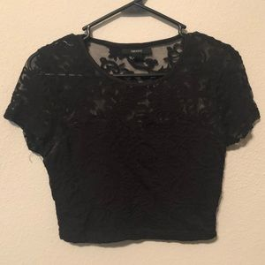 ⚫️ Black crop top 👚